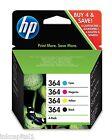 HP 364 Juego de 4 Cartuchos de tinta para Photosmart C309a