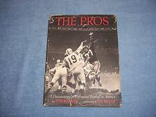 THE PROS of Robert Riger/1st ed/1st prt/HCDJ/History/Sports/Football