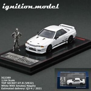 Ignition Model 1:64 TOP SECRET GT-R (VR32) White With Smokey Nagata figure
