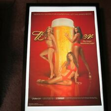 Budweiser Beer Lovie Jung 2008 Usa Olympic Girls Swimsuit Poster Man Cave Nos