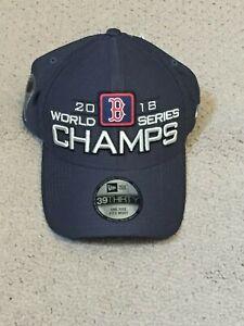 Boston Red Sox New Era 39THIRTY 2018 World Series Champions Locker Room Cap Hat