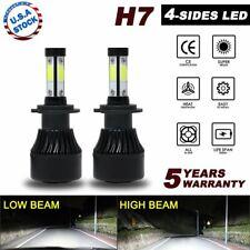 2x 4sides H7 1900W 285000LM CREE LED Headlight Kits Hi/Lo Beam Bulbs 6000K HID