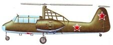 Omega Bratukhin Experimental Helicopter Wood Model Replica Large Free Shipping