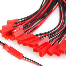 10 Pairs JST Connector Plug Cable Line Male+Female for RC BEC Lipo Battery FT