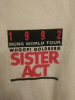 Rare VTG 90s 1992 Sister Act Promo T Shirt XL Nuns World Tour Deadstock Vintage