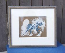"WOODY CRUMBO ""Spirit Horse"" Serigraph Potawatomi Native American Art 7.5 x 5.5"