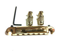 GOLDEN WRAP AROUND BRIDGE TAILPIECE FITS GIBSON GUITAR