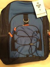 Pottery Barn Teen Gear Up Classic Backpack Nwt Color Block Blue Orange No Mono