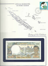 Banknotes of Every Nation New Caledonia 1969 1981 500 Francs P60e C.2 UNC sign 5
