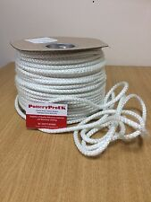 8mm STOVE ROPE WHITE QUALITY GLASS FIBRE ROPE SEAL LAGGING WOOD BURNER OVEN