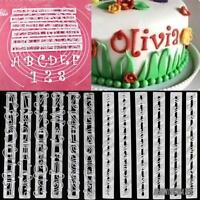 Alfabeto Número Carta Pastel Decorar Set Fondant Hielo Raspado Cortador MoldeSET