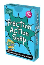 Fraction Action Snap + Pairs Card Game BrainBox - Maths Learning Resource