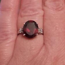 AAA-Mosambik-Granat - Ring,925 Sterlingsilber , Gr. 17