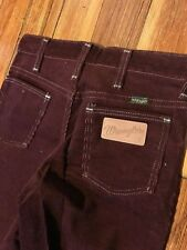 Vintage 80s NWT Wrangler Student Maroon Corduroy Jeans Made In USA