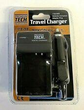 Premium Tech EN-EL12 PT-12 Travel Battery Charger for Nikon w/ Euro Adapter Plug