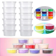 Clear Slime Storage Containers Foam Ball Storage Cups Containers With Lids 2019