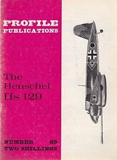 Profile Publications #69 The Henschel Hs 129 (British) 16-page magazine