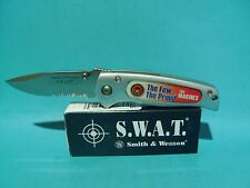 Rare Smith & Wesson pocket knife  S.W.A.T. US MARINES Free Shipping USA