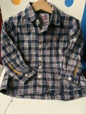 Little joules blue checked shirt,age 5 RRP £29.95