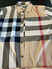 Burberry Brit Long Sleeve Button Down Shirt Mens Large Preowned