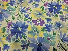 """Swiss Dot Daisies Floral Print Mint Grn100% Cotton 43"""" Wide Fabric By the Yard"""