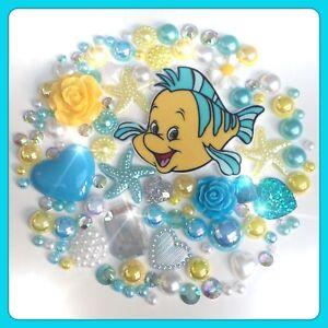 Disney Flounder The Little Mermaid Theme Cabochon Gem & pearl flatbacks decoden