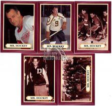 1995-96 Parkhurst '66-'67 Hockey Gordie Howe Mr. Hockey 5-Card Insert Set