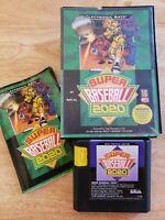 Sega Genesis (CIB) - Super Baseball 2020 (Complete) - Game, Box & Manual - MLB