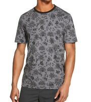 DKNY Mens T-Shirt Gray Size Large L Floral Print Graphic Crewneck Tee $39 #417