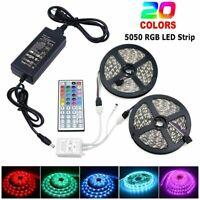 1m-10m 5050 RGB 60led/m LED Strip Lights Colour Changing Tape Kitchen Lighting
