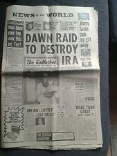 News of the World NEWSPAPER Dec 3 1972 Dawn Raid to Destroy The IRA.