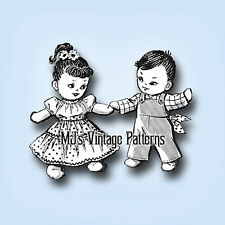 Vintage Sock Doll Pattern ~ Boy & Girl Square Dance