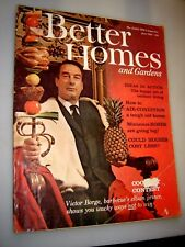 Better Homes & Garden Magazine June 1961 Victor Borge Barbeque Clown Prince