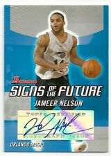 2004/05 Bowman Draft Picks Jameer Nelson Signed Auto Signs of the Future RC