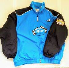 "Vtg Mark Martin Checkered Flag Sports Pfizer ""a Salute To"" Fleece XL Blue"