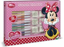 Disney Minnie Mouse Playset Stamps Pens Note Book Inc Pad Ruler Big Stamper Set
