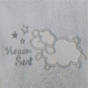 Cutie Pie White Sheep Lamb Heaven Sent Stars Silver Baby Blanket Replacement