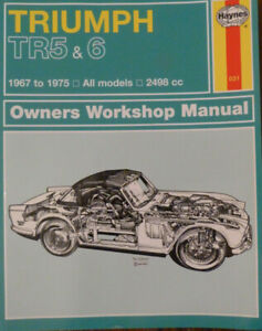 Triumph TR5 TR6 2498cc 1967-1975 Haynes workshop manual - unused