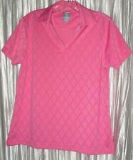 "New *PAGE & TUTTLE* ""Cool Swing""  Pink Golf,Sports Apparel,Sh Sleeve,Shirt, Lg"