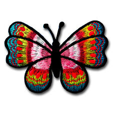 Butterfly Patch Embroidered Iron on Sew Kids Motif Badge Hippie Tattoo Retro