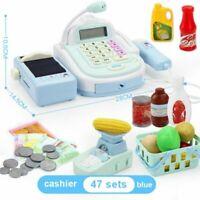 Kids Funny Mic Sound Simulation Cash Register Pretend Cashier Play Toy Set BU A2