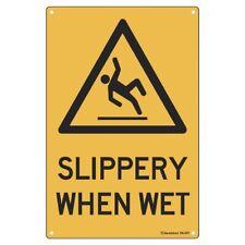 Sandleford Slippery When Wet Sign 300 W x 1.3 D x 450 H mm MLS01
