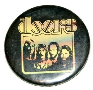 Vintage THE DOORS pinback button jim morrison pin music musician rock and roll