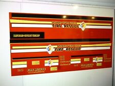 Broward  County Florida Fire Recue SUV    Vehicle Decals 1:18