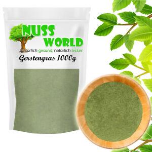 Gerstengraspulver 1kg Gerstengras Pulver Gerstengrassaft 100% rein PREMIUM
