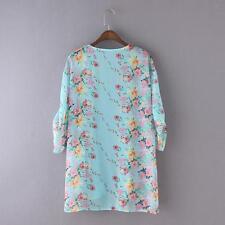 Women Floral Hippie Cardigan Coat Blouse Kimono Chiffon Cape Blazer Jacket Tops