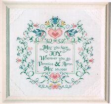 Blue Bird Wedding Sampler Cross Stitch Pattern - Flower Cross Stitch