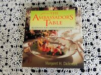 From the Ambassador's Table by Margaret H. Dickenson SIGNED 1st Edition HC