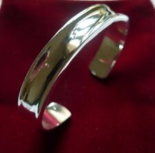 Silver Bangle Cuff Bracelet Great Solid Bangle Stamped SP925 SIMPLY STUNNING!!