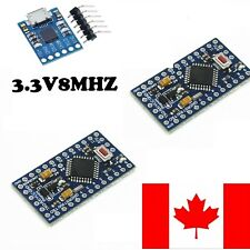 2 Pack Pro Mini Arduino Compatible - 8MHz 3.3V with CP2102 Programmer- CANADA